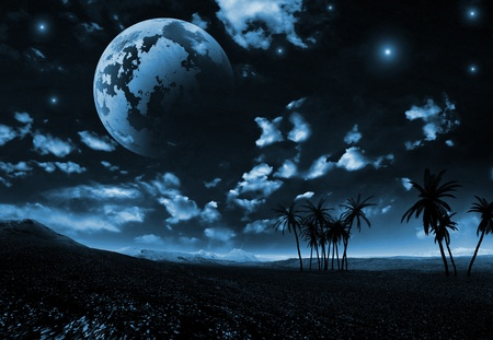 Night landscape photo