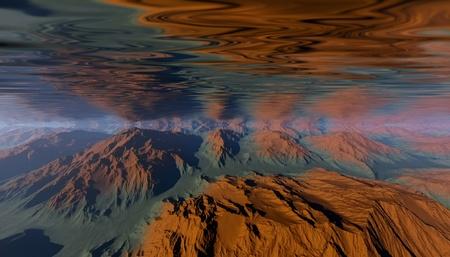 beneath the surface: Underwater scene Stock Photo