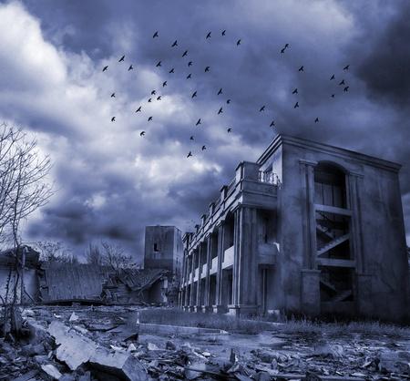 Gloomy apocalypse landscape Stock Photo - 13012670