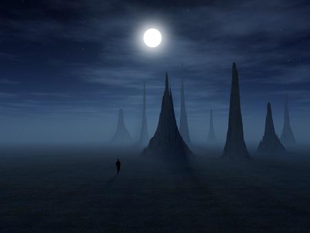 3 d のファンタジー風景