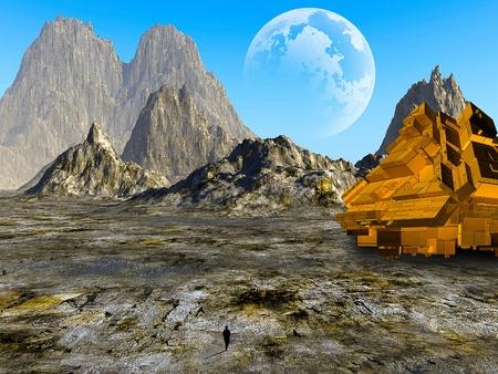 3d Fantasy landscape photo