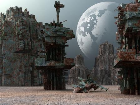 lifeless: 3d Fantasy landscape