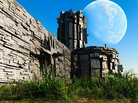3d Fantasy landscape Stock Photo - 13338143