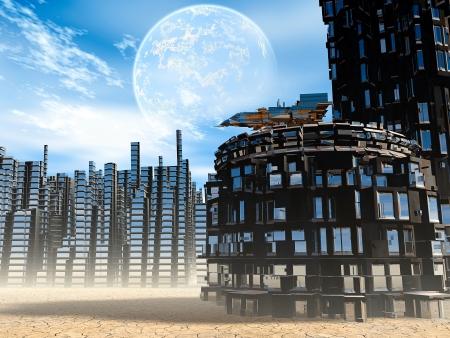 desolation: Fantastic landscape Stock Photo