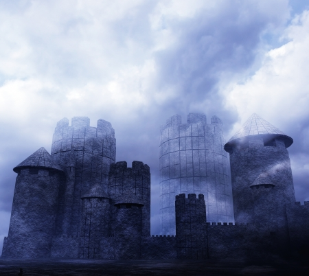 hardiness: 3d Fortress Stock Photo