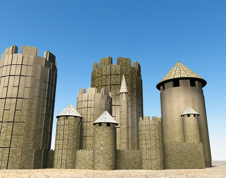 heartiness: 3d Fortress Stock Photo