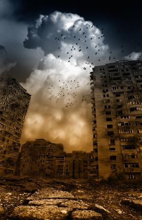 землетрясение: Откровение Фото со стока