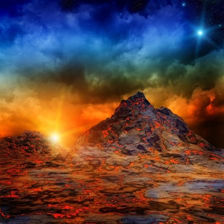 ダーク ・ ファンタジー風景 写真素材