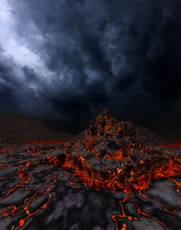 Dark fantasy landscape photo