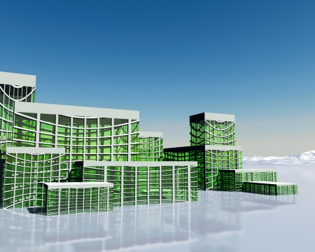 3d fantastic building photo