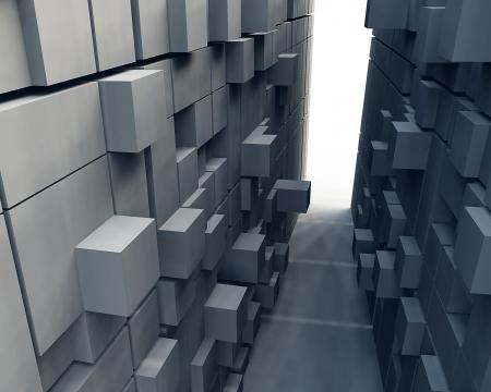 3 d ブロックの抽象的な背景