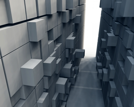 cube: Abstract background of 3d blocks Stock Photo