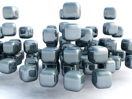 3d cubes Stock Photo - 15443861
