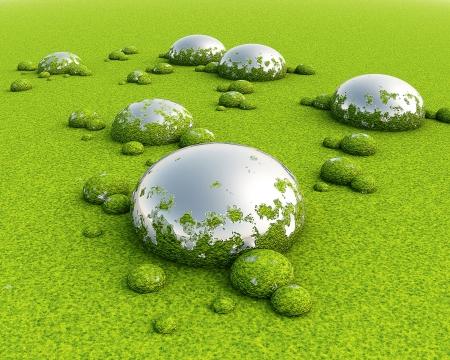 mire: 3D Green swamp
