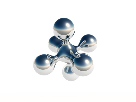 3D Molecule Stock Photo - 16484176