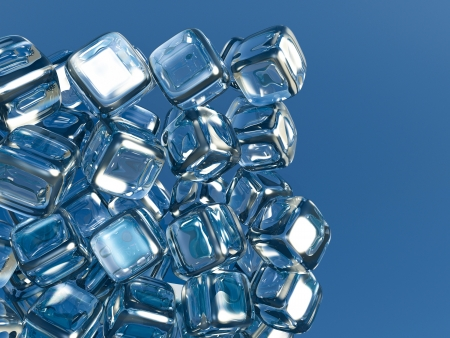3D Ice cubes Stock Photo - 16484185