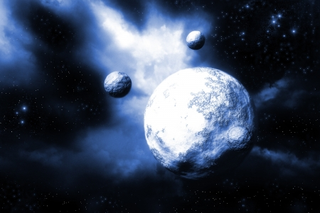 Space landscape Stock Photo - 16749939