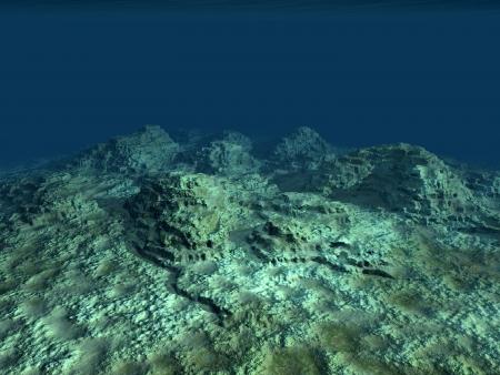 海の底 写真素材