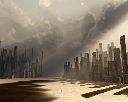街は死んでいます。 写真素材