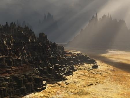 Grim fantasy landscape Stock Photo - 16749954