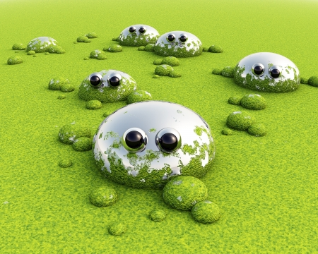 mire: 3D Green funny swamp