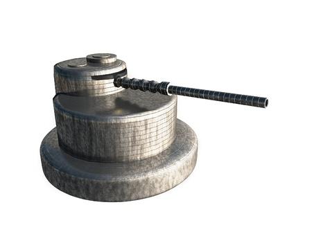 3D Gun Stock Photo - 17095848