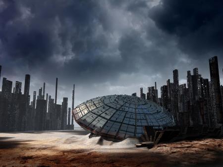 Dark fantasy landscape