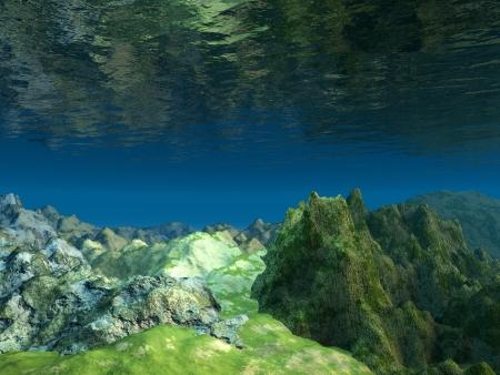 fondali marini: 3D Ocean piano