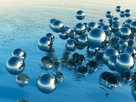 refreshed: 3D Balls Stock Photo