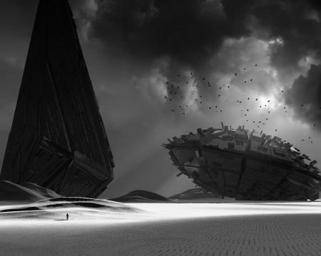 desolation: UFO Stock Photo