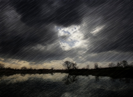 stormy: Rain Stock Photo