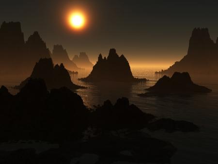 暗い風景 写真素材