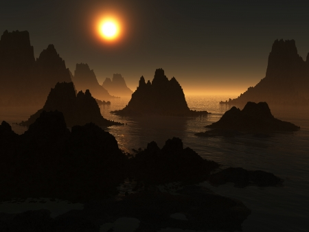 Dark landscape Banco de Imagens