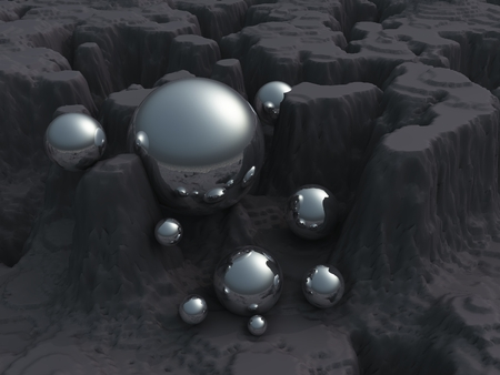 shiny argent: Balls Stock Photo