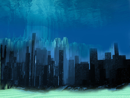 overflow: Overflow  town illustration