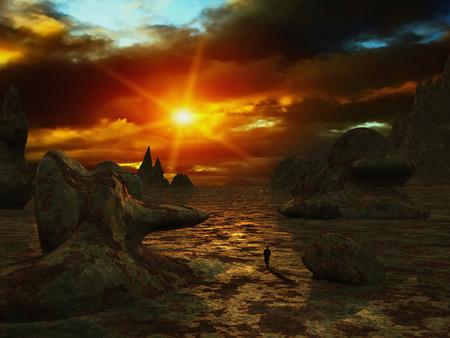 desolation: Fantasy landscape