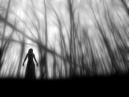 bewitchment: Ghost Stock Photo
