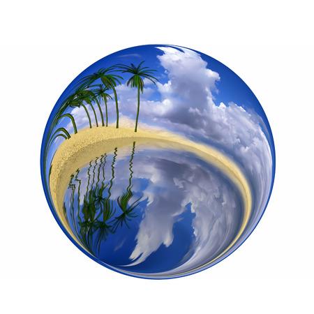 glob: Fantastic colorful ball Stock Photo