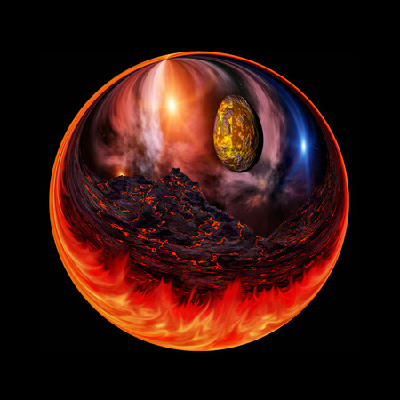 nether: Fantastic colorful ball Stock Photo