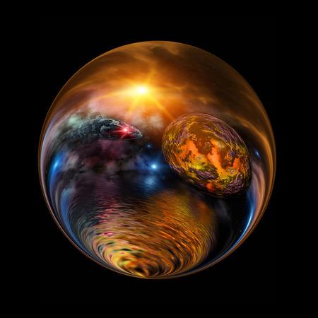 Fantastic colorful ball photo