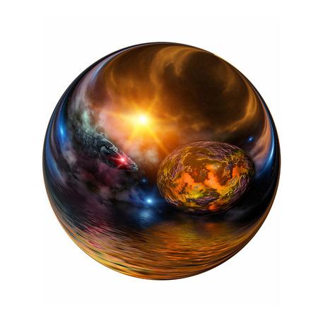 pellucid: Fantastic colorful ball Stock Photo