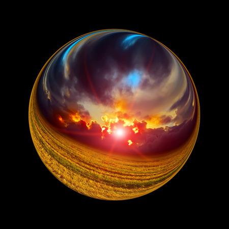 phantasy: Fantastic colorful ball Stock Photo