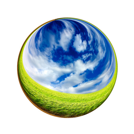 macrocosm: Fantastic colorful ball Stock Photo