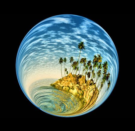 macrocosm: Fantastic colorful ball Stock Photo