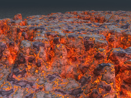 effusion: Lava Stock Photo
