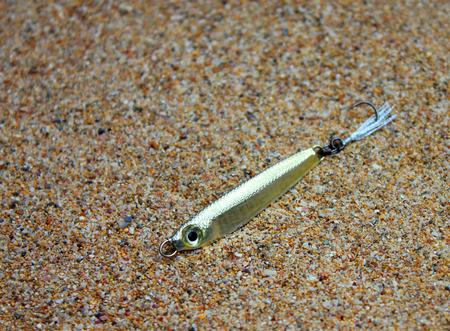 jigging: Fishing lure handiwork Stock Photo