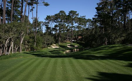 golf hole in Spyglass hills, CA Stock Photo
