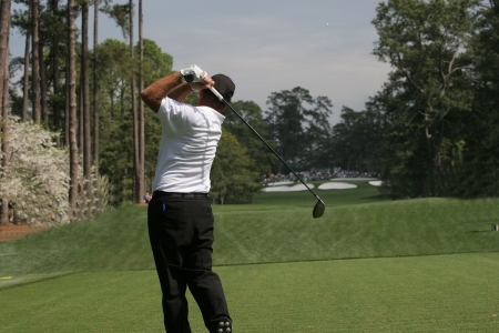 augusta: golf swing in augusta, hole 7