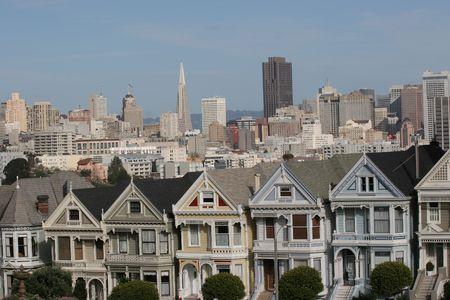 サンフランシスコのビクトリア朝の家、カリフォルニア 写真素材