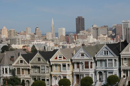 san francisco victorian houses, california